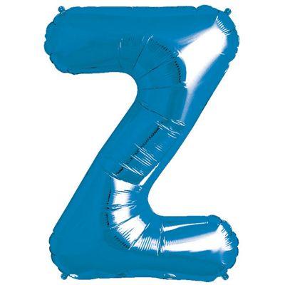 Blue Letter Z Balloon - 34 inch Foil