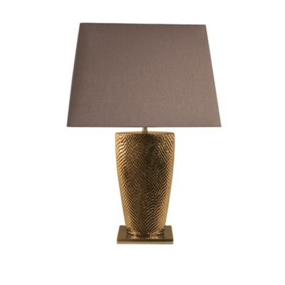 Gold Bahama Small Table Lamp with 15 inch Chocolate Shade