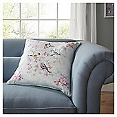 FOX & IVY Jardin Birds Embroidered Cushion