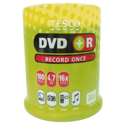 Tesco DVD+R 100 Disc Spindle Pack