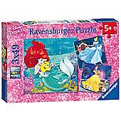Ravensburger Disney Princess 3 X 49 Piece Puzzles