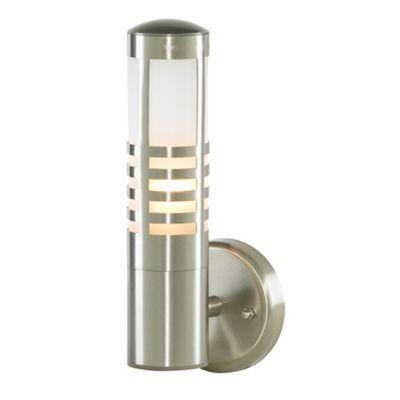 Litecraft Nixon 1 Bulb Outdoor Slatted Wall Lantern, Staniless Steel