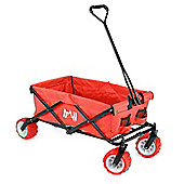 Trail Folding Camping Trolley With All-Terrain Wheels - Red