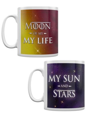 My Sun And Moons - Set Of 2 10oz Ceramic Mug, White