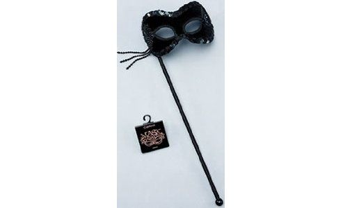 Black Velvet Mask on stick