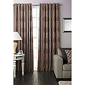 Riva Home Dalby Eyelet Curtains - Mocha