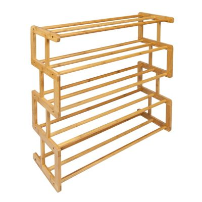 Woodluv S Style 5 Tier Bamboo Shoe Rack
