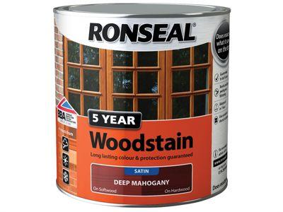 Ronseal 5 Year Woodstain Black Ebony 250ml