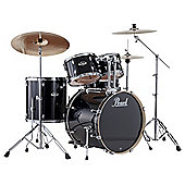 Pearl Export EXX725 Drum Kit with Cymbals - Jet Black - with 6 Months Free Online Lessons