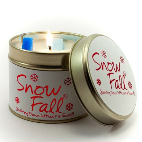 Lily Flame Snowfall Scented Candle