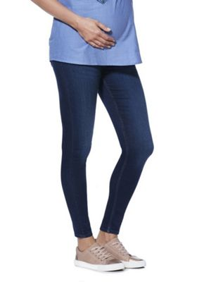 F&F Contour Over-Bump Skinny Maternity Jeans Indigo Wash 16 Long leg
