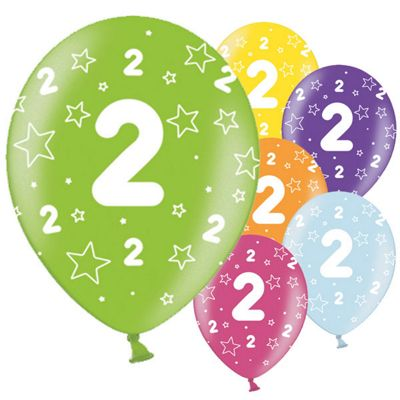 2nd Birthday 11 inch Latex Balloons - 25 Pack