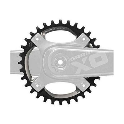 SRAM X01 Chain Ring X-Sync 32T 104BCD Alum 5mm Black 11 speed (Fits Specialized OE Cranks)