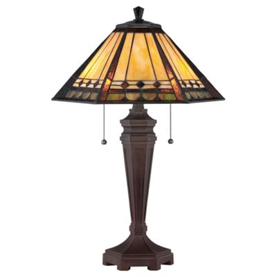 Bronze Patina Desk Lamp - 2 x 60W E27