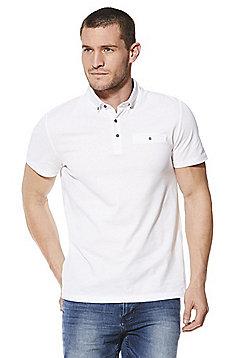 F&F Signature Mercerised Cotton Polo Shirt - White