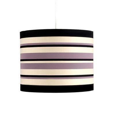 Modern Striped Ceiling Pendant Light Shade Black, Cream & Purple