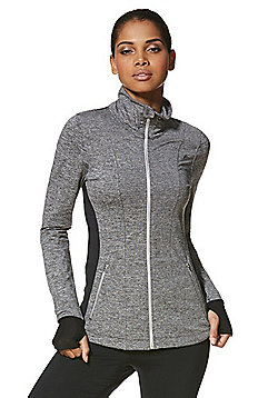 F&F Active Space Dye Zip-Through Jacket - Grey