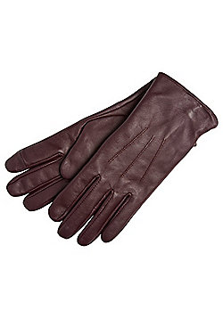 """F&F Signature Leather Gloves with Thinsulate""""™ - Burgundy"""