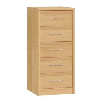 Amos Mann furniture Ruby Narrow Chest of Drawer - Light Oak