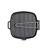 """Chasseur """"Smooth Base"""" Square Grillpan with Wire Handle"""