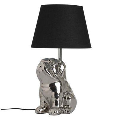 Bahne Table Lamp Bulldog Design in Silver