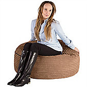 Lounge Pug® 2 in 1 Extra Large Bean Bag Chair & Pouffe - Cord Sand