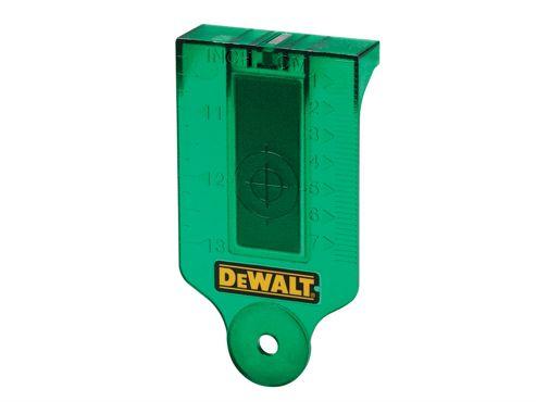 DeWalt DE0730G Green Laser Target Card