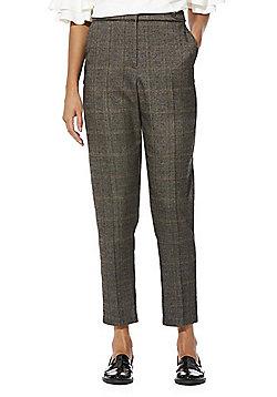 F&F Checked Slim Leg Trousers - Grey