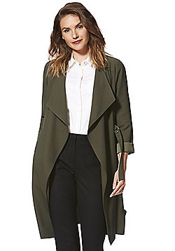 F&F Belted Waterfall Jacket - Green