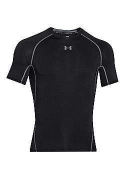 Under Armour HeatGear Armour Compression Short Sleeve Baselayer Shirt - Black