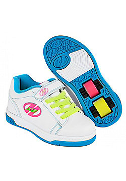 Heelys Dual Up White/Neon Multi Kids Heely X2 Shoe JNR 13