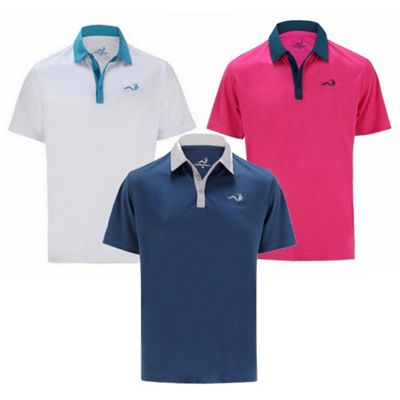 Woodworm Golf Clothes Solid Tech Mens Polo Shirts - 3 Pack S