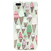 iPhone 7 Plus Ice Cream Cone Illustrated Slim Clear Silicone Case - Multi