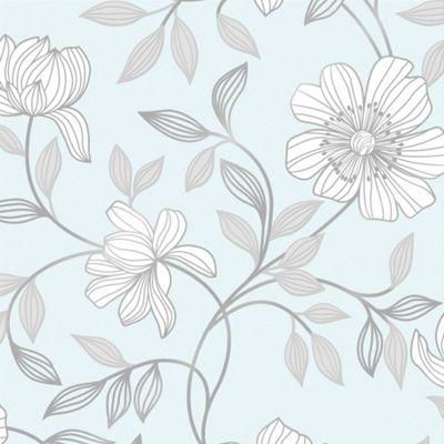 Superfresco Camille Floral Duck Egg Wallpaper