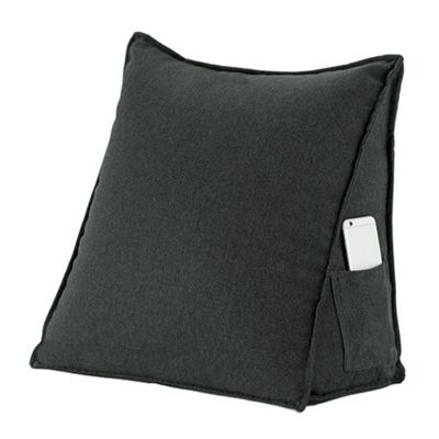 Graphite Dark Grey Soft Wool Feel Bean Bag Bed Wedge
