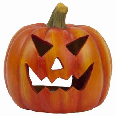 Traditional Halloween Pumpkin Jack O'Lantern Tealight Holder
