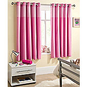 Enhanced Living Sweetheart Pink Eyelet Curtains - 66x72 Inches (168x183cm)