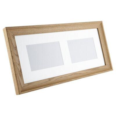 Tesco Solid Oak Frame 2 aperture 4