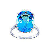 QP Jewellers 8.0ct Blue Topaz Valiant Ring in 14K White Gold