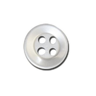 Impex Four Hole Polyester Shirt Buttons White 11mm 10pk