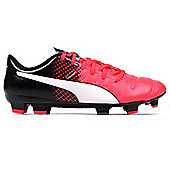 Puma evoPOWER 4.3 FG Firm Ground Mens Football Boot Shoe Red/ Black - Red