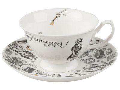 Creative Tops Alice in Wonderland Tea Cup and Saucer Set 210ml