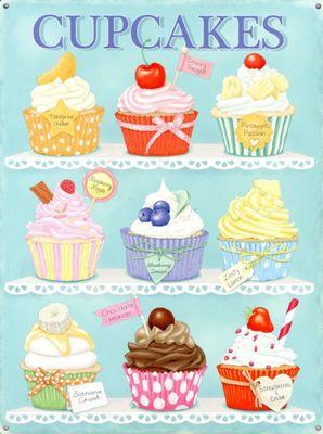 Cupcakes Tin Sign