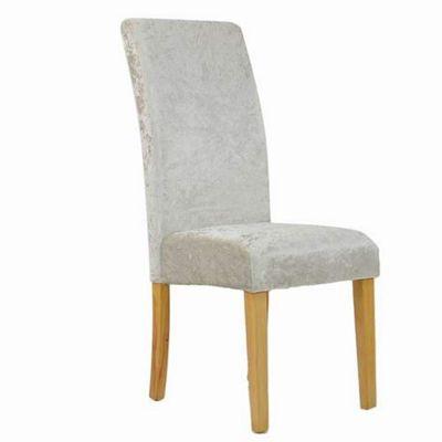 Windsor Dining Chair Crushed Velvet Gold