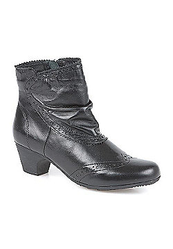 Pavers Leather Ankle Boot - Black