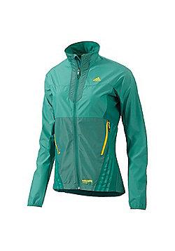 adidas Terrex SoftShell Hybrid Outdoor Womens Jacket Green - Green