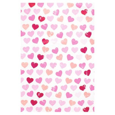 T. PINK HEARTS 2M ROLL WRAP