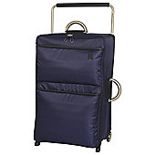 IT Luggage World's Lightest 2 wheel Large Evening Blue Suitcase