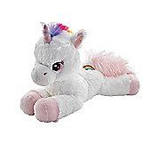 Snuggle Buddies 38cm Soft Rainbow Unicorn - Pink Charry