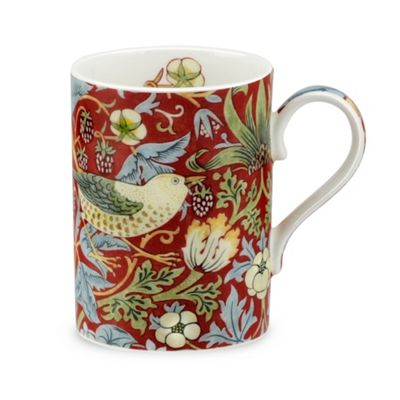 Royal Worcester Morris & Co Strawberry Thief Mug, Crimson